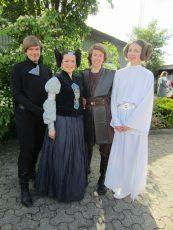 Legoland Denmark 2014. Swedish delegation members for a Skywalker family photo.