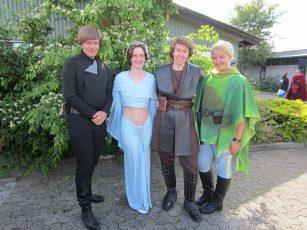 Legoland Denmark 2014. Danish delegation members for a Skywalker family photo.