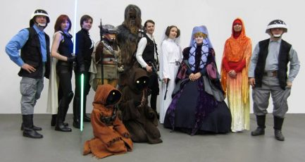 Stockholm Sci-fi & filmmessan 2014. Group photo with good representation of delegation members.